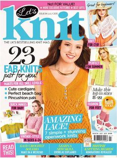Let's Knit, issue 94, July 2015 On sale 12th June. Grab your needles and get set on 23 fantastic warm weather knits, including seven stunning lace projects, sumptuous shawls, stylish garments and more. Get the next instalment in our LK Summer of Socks, and don't forget to vote for your favourites in the British Knitting Awards!