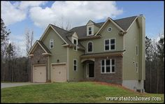 Two story home with basement in North Carolina.
