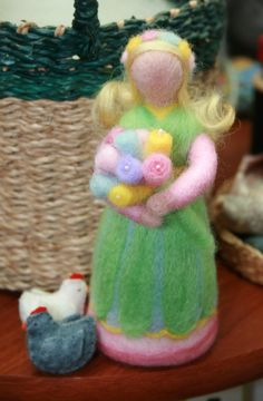 Needle Felted  Spring Maiden