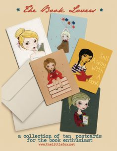 Postcard Set Blank Card Set Postcard Collection by thelittlefox
