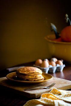 Pumpkin Oat Pancakes
