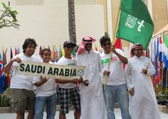 These men from Saudi Arabia were the most spirited.