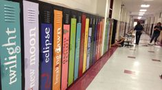High school teachers in Mississippi turned their school's unused lockers into works of book-ish art.