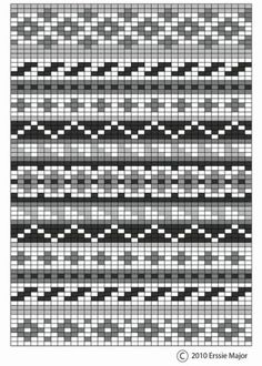 fair isle pattern - beautiful as an embroidery pattern too. border ideas for fair isle designs Fair Isle Knitting Patterns, Knitting Blogs, Knitting Charts, Knitting Stitches, Knitting Projects, Knitting Sweaters, Knitting Ideas, Free Knitting, Embroidery Patterns Free