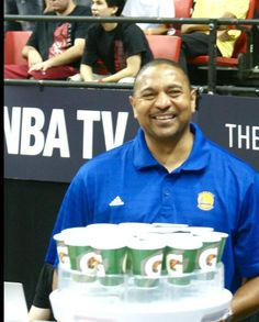 Head Coach Mark Jackson is here to support the #Warriors in the #NBASummerLeague Championship Game!