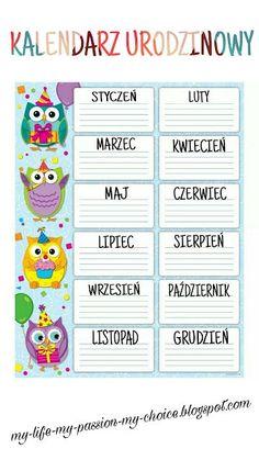 """MY LIFE, MY PASSION, MY CHOICE..."": ""DZIŚ SĄ MOJE URODZINKI..."" Learn Polish, Teacher Morale, Polish Words, Polish Language, Classroom Board, Education For All, Teacher Inspiration, Home Schooling, Fun Learning"