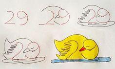 Как научить ребенка рисовать спомощью цифр