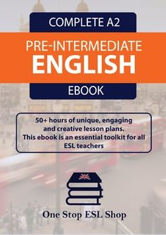 This is the One Stop ESL Shop A2 Course Book lesson plans for Pre-Intermediate ESL learners. There are a total of 45 units within this course book, providing over 50-60 hours of unique, creative and engaging lesson plans. This course includes 8 audio files for listening exercises.A unique feature of this course book is the TEFL structured layout of the lesson plans that will save teachers many hours of preparation.