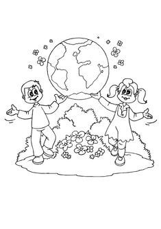 Human Chain Coloring Page Earth Day Coloring Pages, Tree Coloring Page, Dramatic Play, Preschool, Projects To Try, Education, Planet Earth, Animal Drawings, Facebook