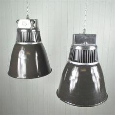 Large Czech Factory Pendant Lights - Vintage Industrial Lighting - Original House