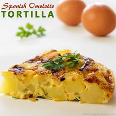 This Spanish dish is made from eggs and potatoes. Some add onion or some more ingredients such as chorizo, tuna or vegetables. http://www.happyfoodstube.com/spanish-omelette-tortilla-espanola #spanishomelet #tortilla #spanishfood #recipes #homecooking