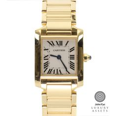 Cartier Tank Francaise Ladies 18ct Gold Quartz Watch