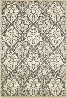 "Graphic Illusions Ivory Area Rug 3'6"" x 5'6"""