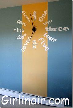 Handpainted Wall Clock