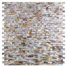 Ivy Hill Tile Lokahi Brume Gold Mini Brick in. x 12 in. x 2 mm Pearl Shell Mosaic - The Home Depot Marble Mosaic, Mosaic Glass, Mosaic Tiles, Wall Tiles, Splashback Tiles, Kitchen Backsplash, Backsplash Design, Gloss Matte, Feature Tiles