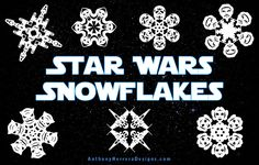 star wars snowflake cutouts
