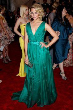 Dianna Agron in Carolina Carrera at the 2012 Costume Institute Gala Met Ball