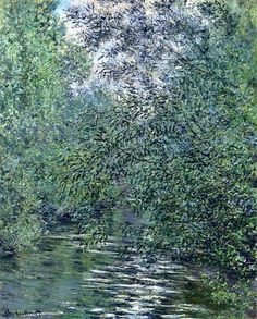 The Willows on the River - Claude Monet  --  Completion Date: 1876