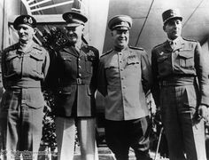 "Field Marshal Montgomery (Great Britain), General Eisenhower (USA), Marshal Zhukov (Soviet Union), and General de Lattre de Tassigny (France). With the ""definition of the zones of occupation"" and the ""definition of control procedures,"" Germany was divided into four zones ""for the purposes of occupation,"" GHDI - Image"