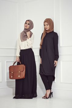 30 Modern Ways to Wear Hijab (Outfit Trends) Modest Wear, Modest Outfits, Modest Fashion, Hijab Fashion, Fashion Outfits, Fashion Ideas, Fashion 2014, Skirt Outfits, Maxi Dresses