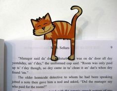 Cute cat bookmark.