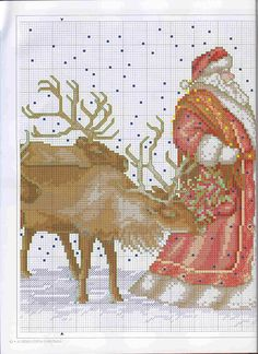 Santa and the reindeer 3/4