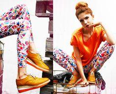 Lovelysally Leggings, Sheinside Top, Le Bunny Bleu Shoes