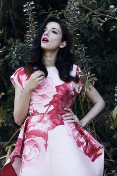 """Giambattista Valli smells of roses ""wearing Giambattista Valli dress  photo Sara Mautone per @luisaviaroma  #eleonoracarisi #giambattistavalli"