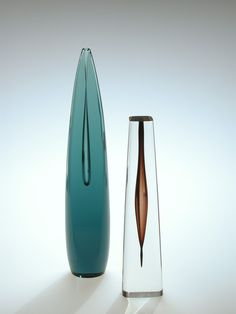 blown, cased, and cut. Art Of Glass, Cut Glass, Corning Museum Of Glass, Mid Century Design, Czech Glass, Midcentury Modern, Fused Glass, Design Art, Sculptures