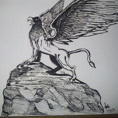 Minha primeira postagem #grifo #art #desenhoautoral #mitologia