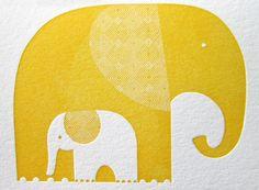 Elephant Notecard by Tara Hogan via anotherdonkeydesi... #Stationery #Elephant #Tara_Hogan