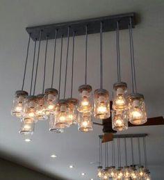 DIY - luminaire pots masson! Bonne idée!