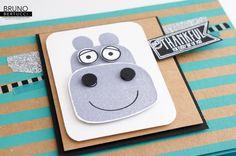 Bruno Bertucci | Stampin Up | stampinbruno | Playful Pals | Pyramid Pals | Shine On | Hippopotamus | Handmade Card