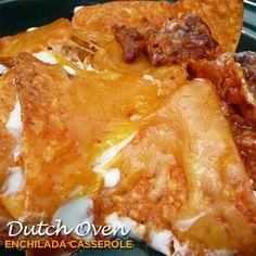 Dutch Oven Enchilada Casserole - 50 Campfires