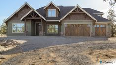 Craftsman House Plan 23111 The Edgefield: 3340 Sqft, 4 Bedrooms, 4 Bathrooms Rustic House Exterior Craftsman House Plans, New House Plans, Dream House Plans, House Floor Plans, Craftsman Ranch, Rustic House Plans, Craftsman Home Exterior, Garage Exterior, Craftsman Home Styles