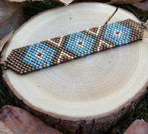 Nazar Boncuklu Yildiz Bileklik Dünyanın en kaliteli boncukları olarak bilinen miyuki cam boncuklarla , elde.... 374455