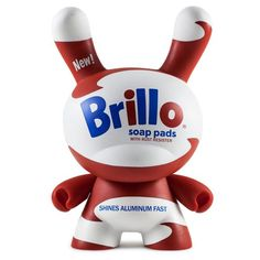 "Andy Warhol 8"" Masterpiece White Brillo Dunny - Kidrobot - 1"
