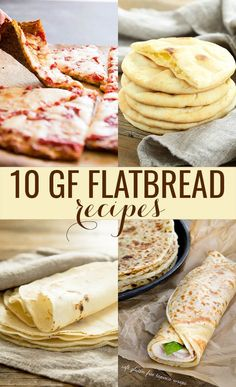 Ten perfect recipes for gluten free flatbread and wraps. They're flat, sure, but not at all uninteresting. Perfect for pizza, burritos, and lunch wraps!