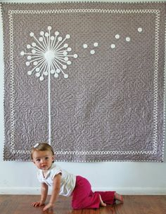 I think I could tackle something like this- good inspiration to create something myself simplicity.... baby quilt pattern