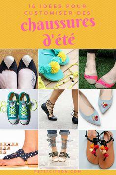 16 idées pour customiser des chaussures (ballerines, tongs, baskets...) -Vous avez une paire que vous avez envie de transformer??? trouvez des idées dans notre article