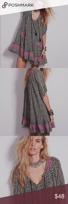 6998b44444369 Penny Lane Swing DRESS Black NEW BRAND NEW!! Printed mini dress with 3
