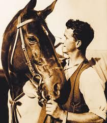 """Phar Lap ~ Australia's """"Wonder Horse"""". His name was Thai for 'sky flash'. Like Man o' War and Secretariat, he was also known as """"Big Red""""."""