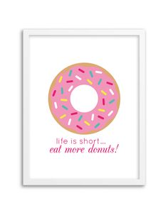 Download and print this free donut wall art for your home or office!