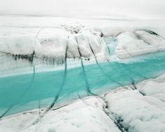 River 1, 07/2007, Position 1069° 41`13``N, 49° 51`18``W, Altitude 750 m, 7, 63 x 75 cmPigmentprint auf Hahnemühle Papier aufgezogen auf Museumskarton, Signiert, betitelt, nummeriert in Bleistift verso