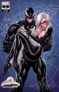 Amazing Spider-Man J Scott Campbell Exclusive - Venom Black Cat Cvr C Comic Book Characters, Marvel Characters, Comic Character, Fictional Characters, Black Cat Marvel, All Spiderman, Amazing Spiderman, Marvel Comics Art, Marvel Heroes