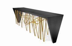 Daniel Germani teamed up with Consentino in order to create an amazing piece as Chaos console table is.   www.bocadolobo.com   #luxuryfurniture #modernconsoletables