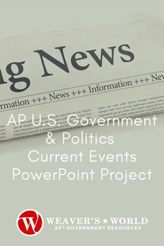 Want your students to increase their test scores on the AP Gov Exam? Give them exposure to the 5 Big Ideas of APGOPO year round by incorporating Current Events into your curriculum. #LOR - Liberty & Order, #CON - Constitutionalism, #PMI - Competing Policy Making Interests, #MPA - Methods of Political Analysis, #PRD - Civic Participation in a Representative Democracy. Use 10-years of experience with current events for what will be your students' favorite part of the week! #WeaversWorld #APGov Political Participation, Political Ideology, Politics, Political Science, Political Cartoons, Powerpoint Examples, Student Engagement, Civil Rights, Rubrics