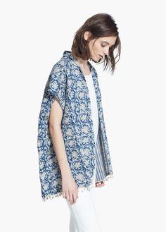 Kimono réversible imprimé | MANGO