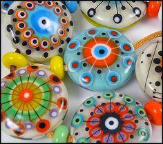 MICHOU- lampwork beads ♥ Fireworks ♥