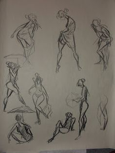 Alex Woo's gesture drawings done in Tom gately's gesture class at Pixar. Beautiful.